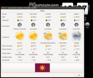 PCpercaso.com :: My-Weather-Indicator - Previsioni meteo