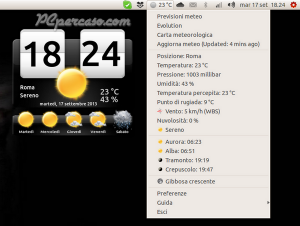 PCpercaso.com :: My-Weather-Indicator - Menù e info meteo