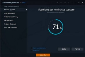 PCpercaso.com :: Advanced SystemCare 8 Free - Scansione del sistema