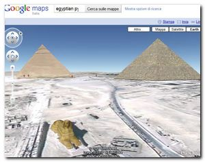 Plug-in  Google Earth - Egyptian Pyramid