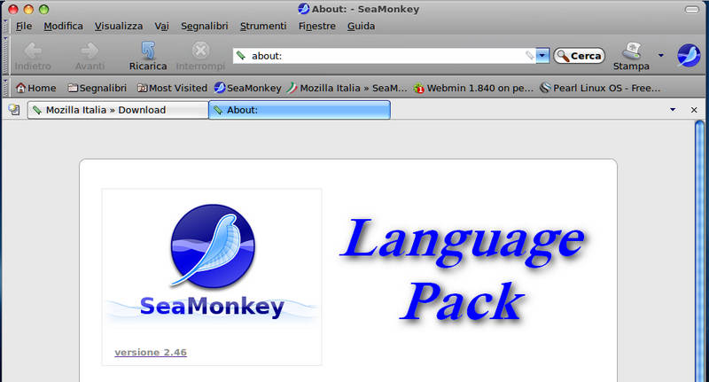 SeaMonkey - Installare il language pack italiano