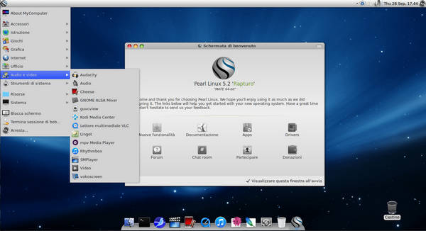 Pearl MATE 5.2 - Stabile Linux distro in Stile Mac OS X