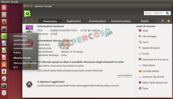 Installare Ubuntu Tweak in Ubuntu 14.10 Utopic