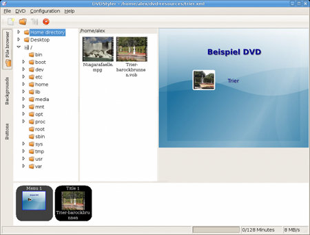 DVDStyle - Browser