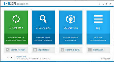 Emsisoft Free Emergency Kit - Scansione e pulizia anti-malware