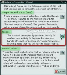 PCpercaso.com :: Slacko Puppy - Network Connection Wizard
