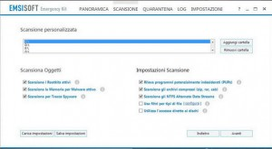 PCpercaso.com :: Emsisoft Emergency Kit - Scansione personalizzata