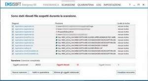PCpercaso.com :: Emsisoft Emergency Kit - Resoconto scansione