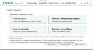 PCpercaso.com :: Emsisoft Emergency Kit - Tipo di scansione