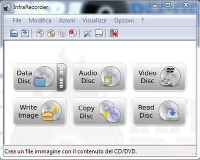 InfraRecorder - L'open source per masterizzare CD/DVD